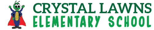 Crystal Lawns Elementary School logo centered