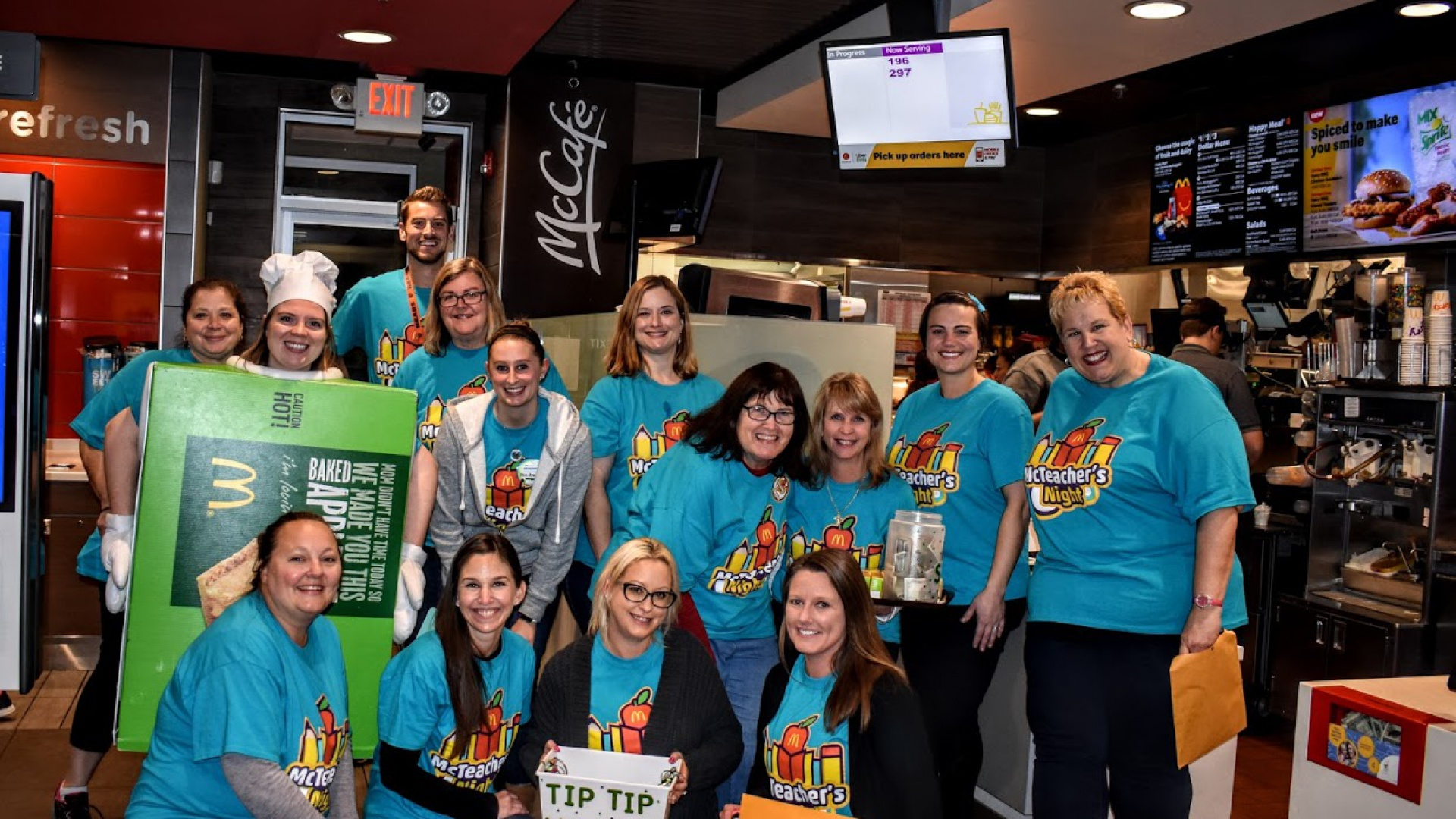 Teachers Work at McDonald's Fundraiser Night