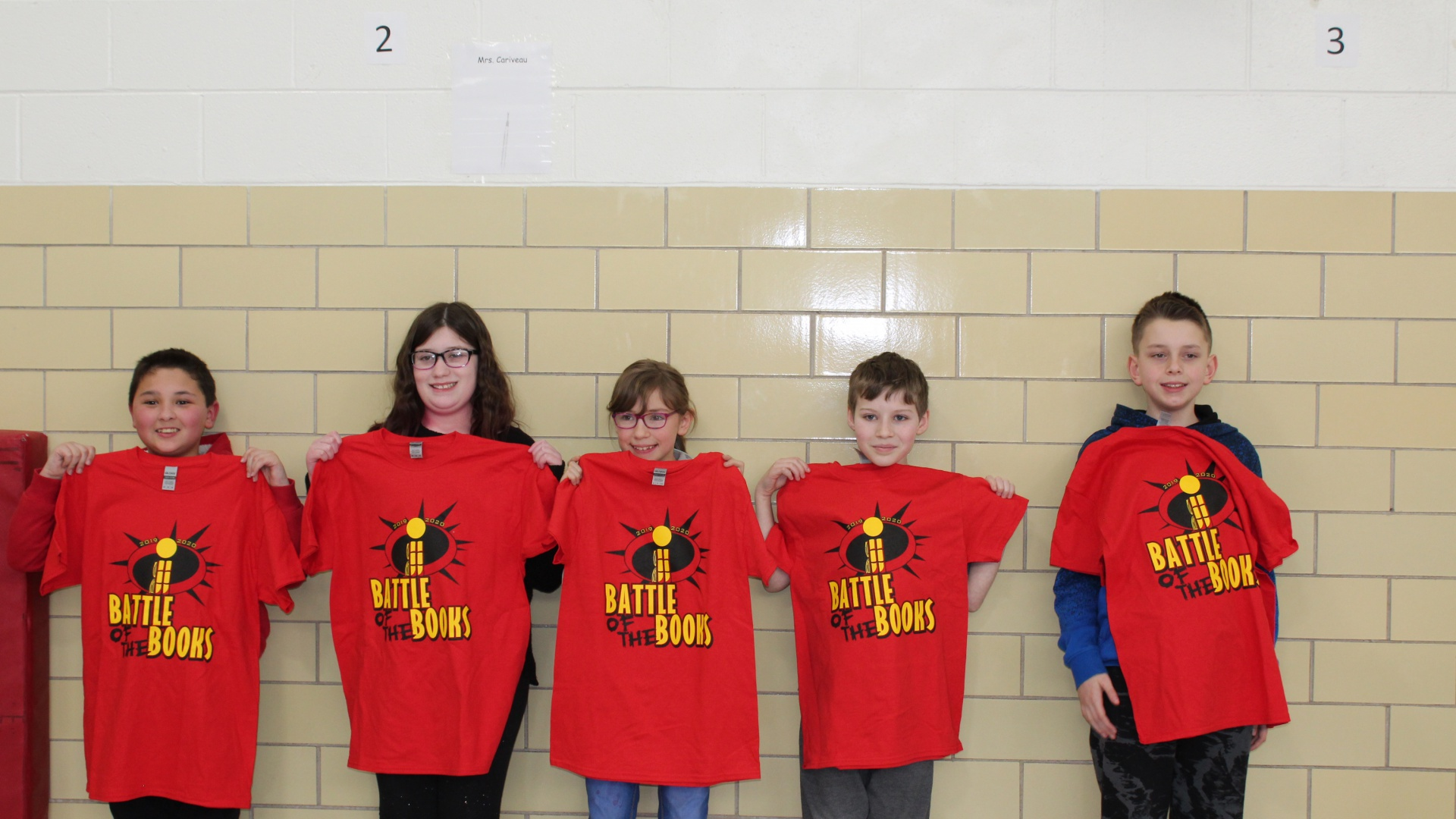 5th Grade Battle of the Books Winners